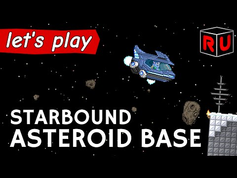 Building Asteroid Colony & Shuttle Bay | Let's play Starbound Asteroid Base ep 1