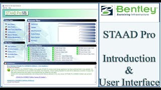 STAAd Pro Tutorial For Beginners [Eposide 1]: Introduction