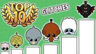 TOP 10 FUNNIEST GLITCHES THAT HAPPENED IN MOPE.IO! BEST HACK/GLITCHES IN MOPE.IO! (Mope.io)