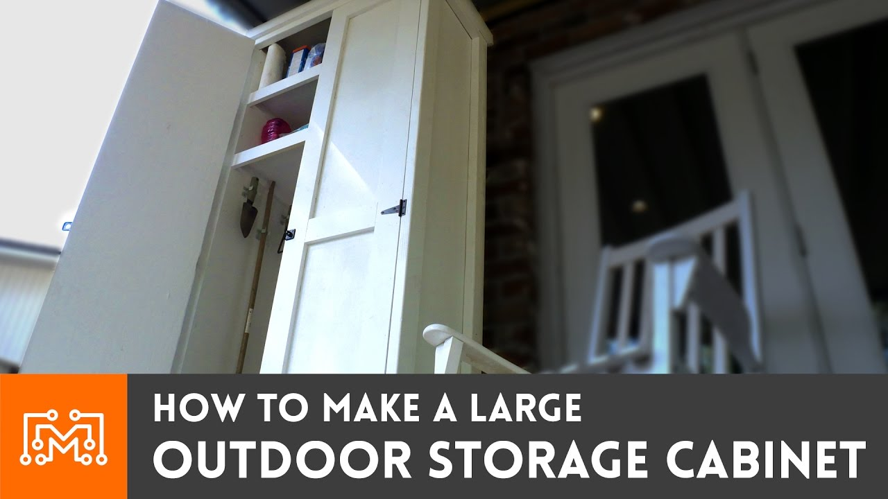 Outdoor Storage Cabinet Woodworking How To Youtube