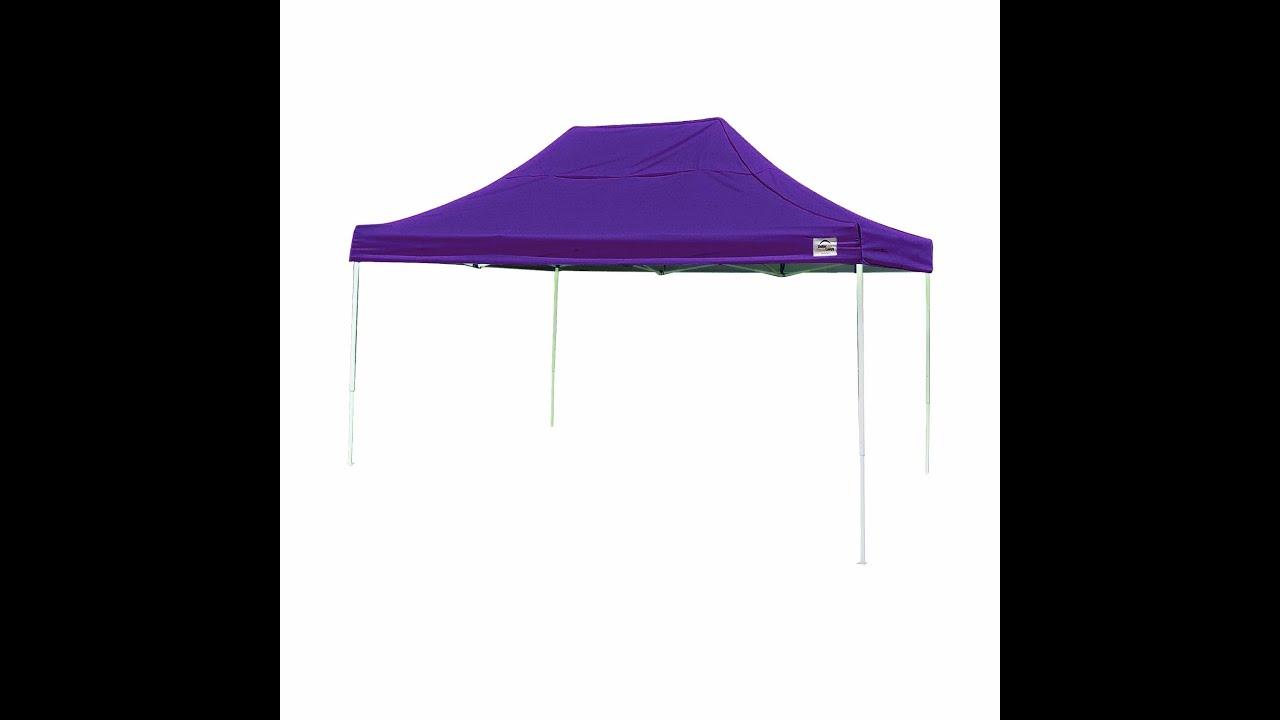 shelterlogic 10x15 straight leg pro series canopy - youtube