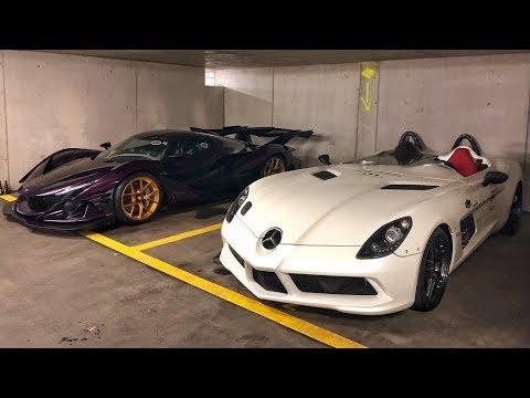 30 Millions € d'HYPERCARS dans un parking en Suisse !!