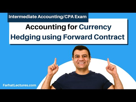 Hedging Of Foreign Currency Using Forward Contract | Advanced Accounting | CPA Exam FAR