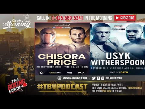 ☎️Usyk Vs Witherspoon Set🤢 Spong Out😢 Chisora Vs Price Official🤷🏾♂️