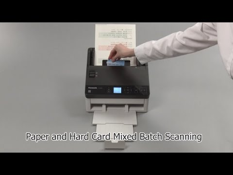Panasonic Document Scanner KV-S1058Y/S1028Y Mixed Paper and Hard Card Batch Scanning