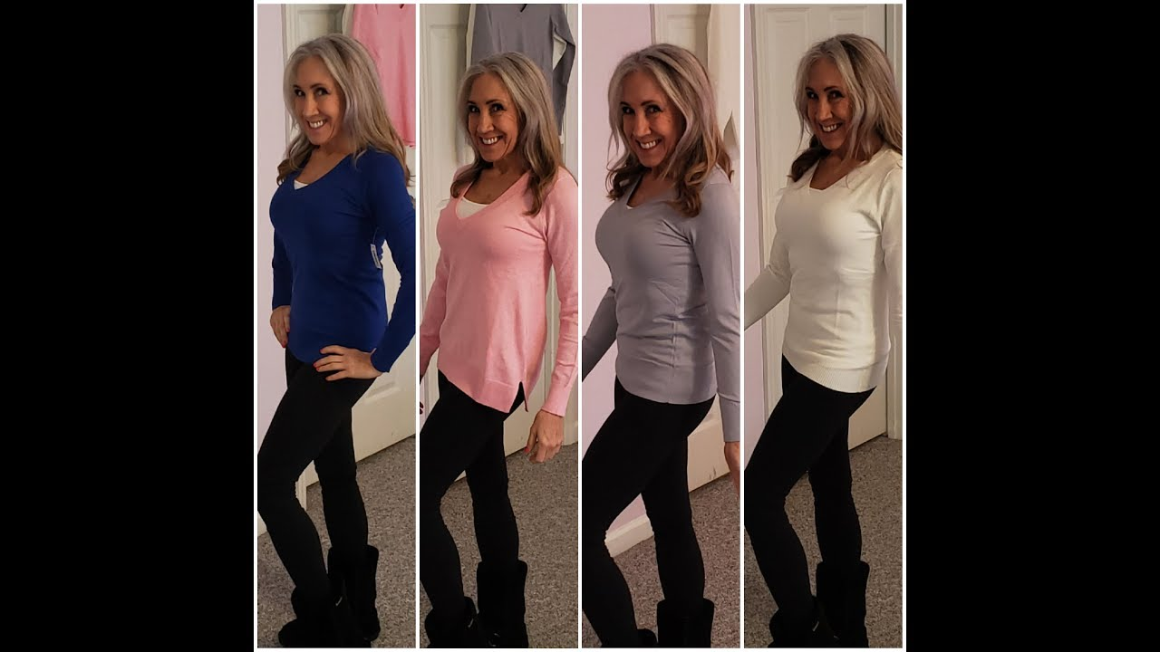 V Neck Sweaters | Lightweight | Buy Online | KimTownselYouTube