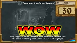 Hearthstone: The Best Brawl Ever Made! 'Servant of Yogg-Saron' Tryouts | Crazy, Madness Everywhere