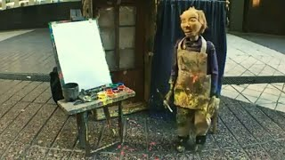 Marionette Puppet Painting Skills | Wonderful Street Performer