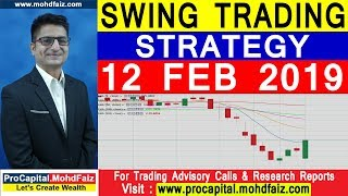 SWING TRADING STRATEGY  12 FEB 2019 | POSITIONAL TRADING STRATEGY