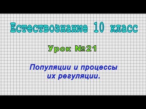 Естествознание 10 класс (Урок№21 - Популяции и процессы их регуляции.)