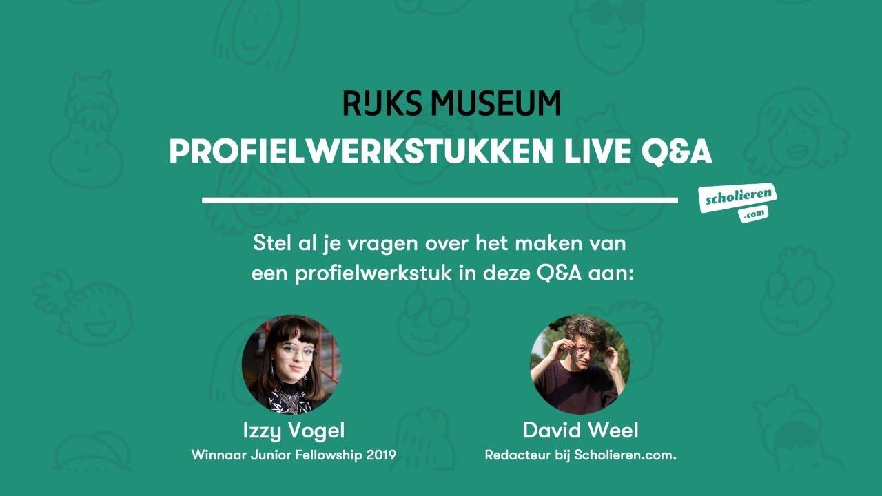 Live Q&A over profielwerkstukken