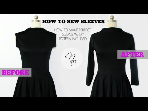 Nadira037   How to Sew Sleeves + DIY Pattern Included