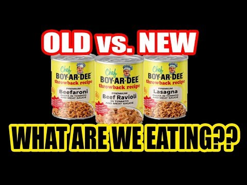 Throwback Chef Boyardee vs. New Chef Boyardee! - WHAT ARE WE EATING?? - The Wolfe Pit
