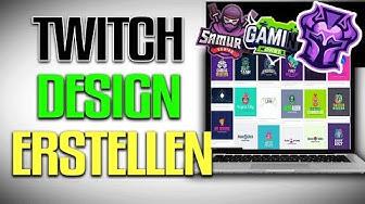 ➡️PROFESSIONELLES GAMER LOGO / TWITCH DESIGN ERSTELLEN (Online ohne PS,Gimp etz.)