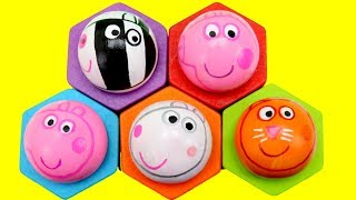 PEPPA PIG TOYS! Disney Pop Up Surprise Toys! Wooden Toy Balls Baby Preschool Learn Colors for Kids