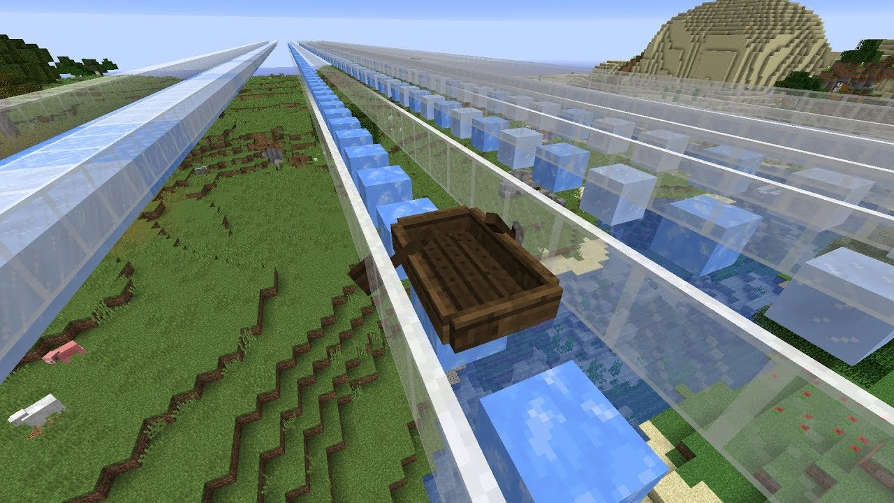18w16a Blue Ice Nerfed Youtube Having ice tunnels with low ceiling was faster, still. 18w16a blue ice nerfed