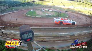Speed Radar of 3 classes during hot laps on 6-29-18 at 201 Speedway