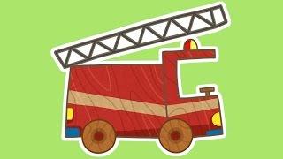 Die Car Toons. Ein Neuer Cartoon! Ein Fire Truck