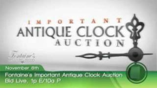 Antique Clocks Clock Auction