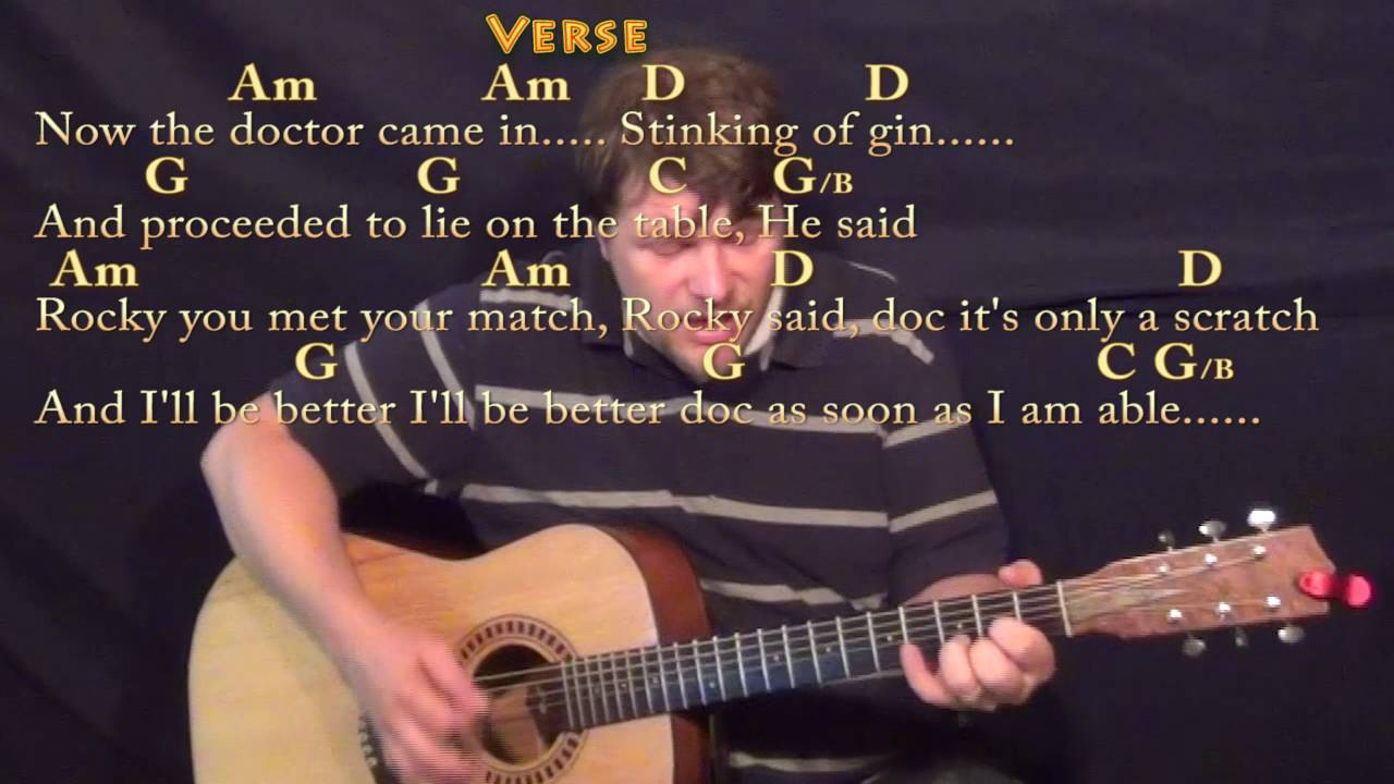 Rocky Raccoon The Beatles Guitar Cover Lesson With Chordslyrics