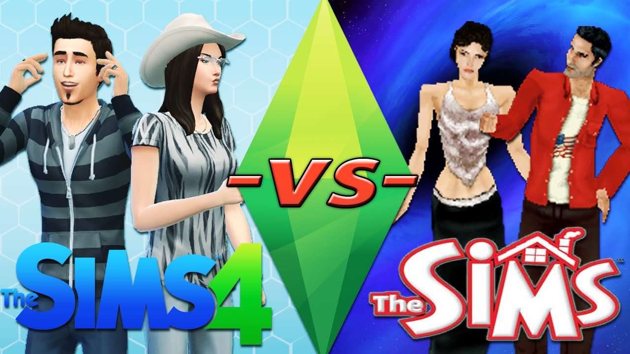 the sims 4 vs the sims 1 comparison video youtube. Black Bedroom Furniture Sets. Home Design Ideas