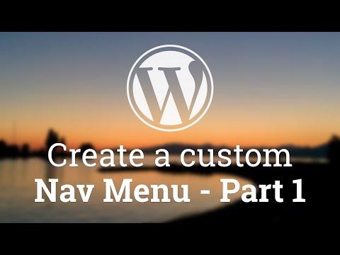 WordPress get nav menu items