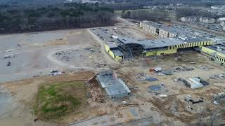Drone Flyover of Little Rock Southwest High School - Feb. 2019