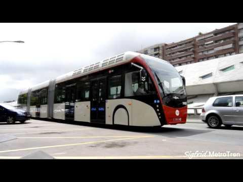 Autobus biarticulado VanHool Exquicity de TMB en pruebas.