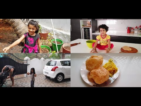 A Rainy Day Vlog with Family - Poori Masala Recipe - YUMMY TUMMY VLOG