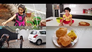 A Rainy Day Vlog with Family - Poori Masala Recipe - YUMMY TUMMY VLOG