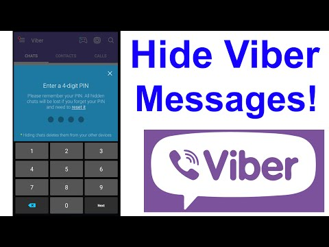 How to HIDE MESSAGES in VIBER! - YouTube