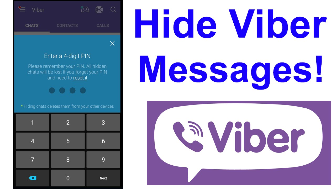 How to HIDE MESSAGES in VIBER!