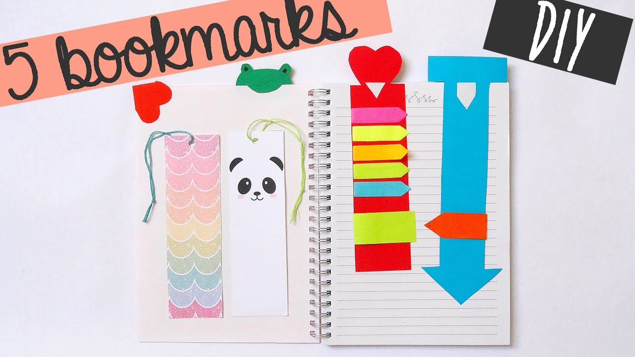 Diy cute easy bookmarks youtube for Easy bookmark ideas