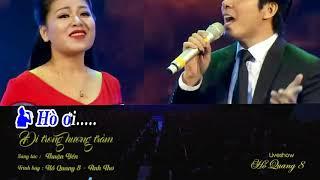 Đi Trong Hương Tràm - Karaoke Hồ Quang 8 🆚 Anh Thơ