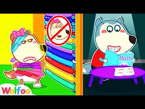 Let Wolfoo Alone, Lucy! - Funny Stories for Kids About Sis vs Bro   Wolfoo Family Kids Cartoon
