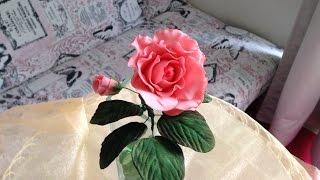 Роза из сахарной мастики: моя версия(На этом видео я сделала розу из сахарной мастики. Мастика полностью домашнего приготовления без лишних..., 2015-04-24T05:25:54.000Z)