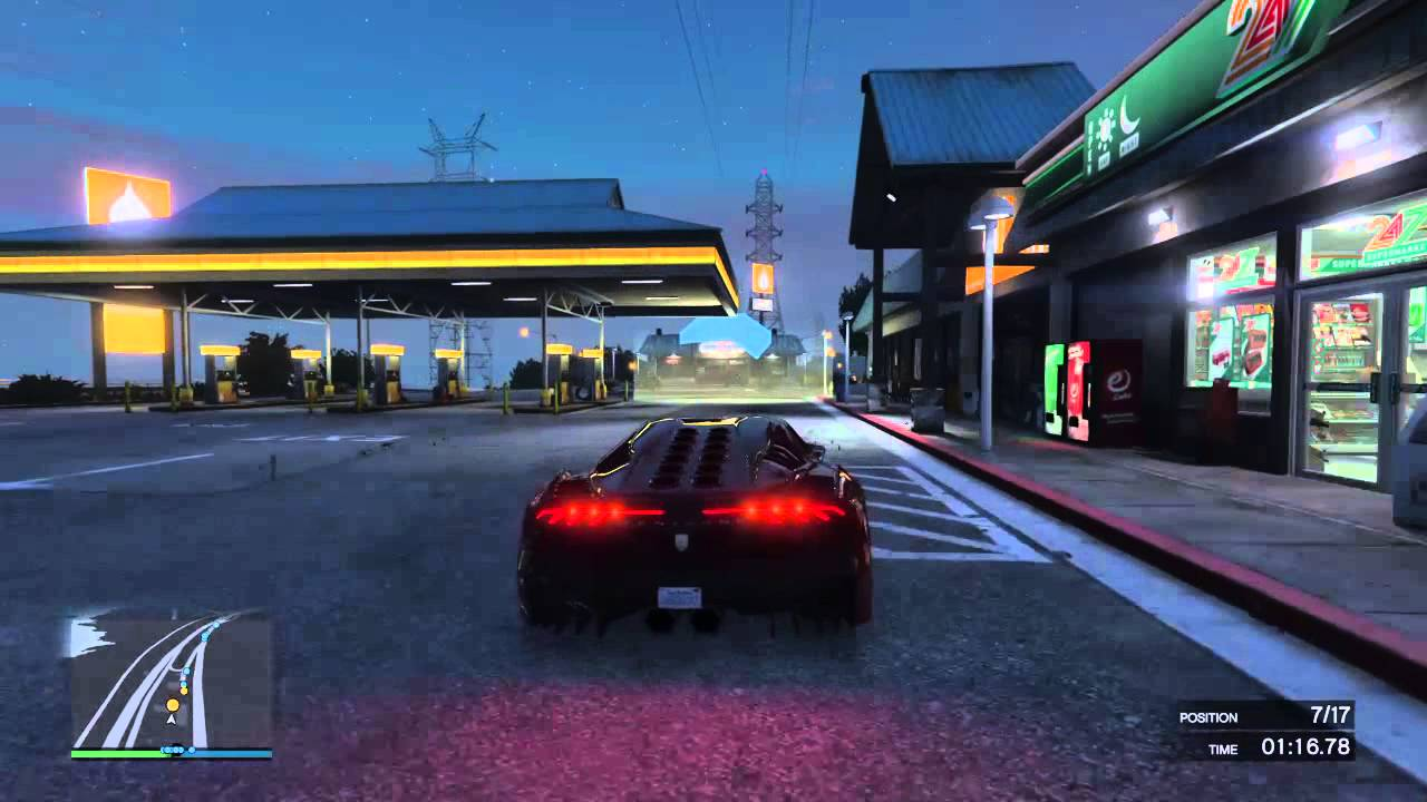 Grand Theft Auto V Multiplayer Race 1 - YouTube