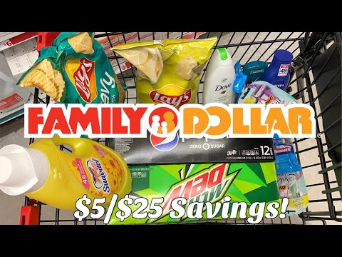 Family Dollar | $5/$25 Savings | FOOD Deals & MORE! | NOW- Until 1/4 | Meek's Coupon Life
