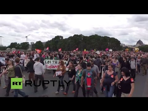 LIVE: Protesters gather outside French parliament after govt pushes through labour reform