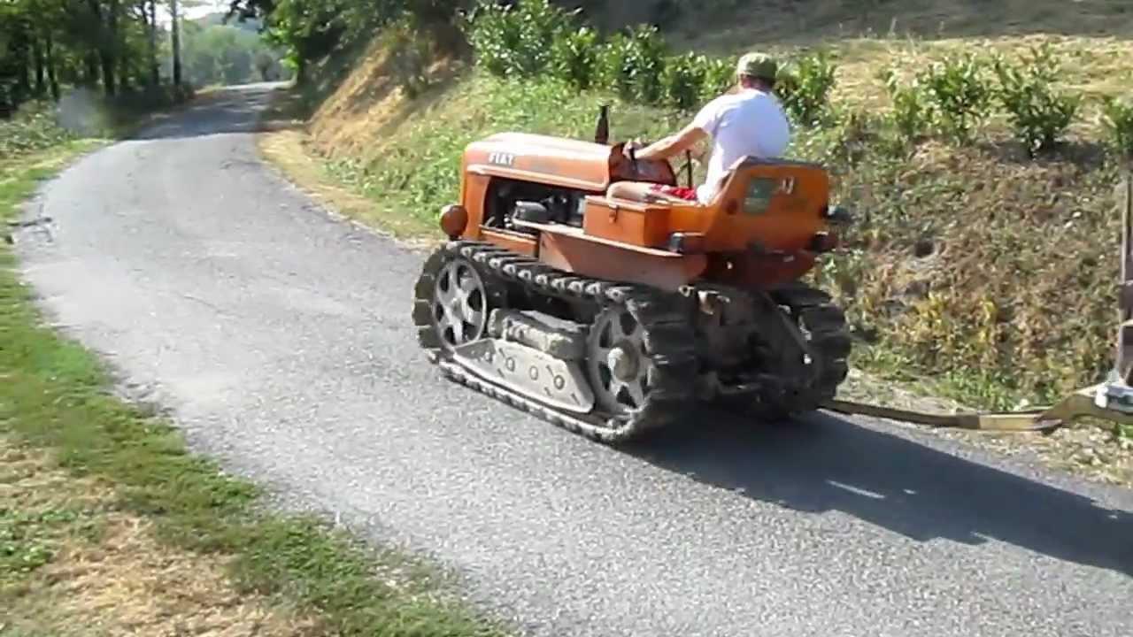 Trattore Tractor Fiat 312c Per Le Vie Di Mandasco    Con