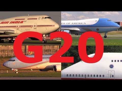 ᴴᴰ ✈ G20 - 2017 | PRESIDENTIAL & Government Aircraft