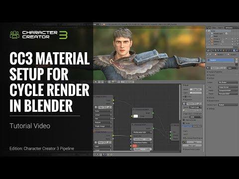 Character Creator 3 Tutorial - CC3 Material Setup For Cycle Render In Blender