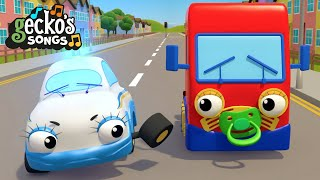 10 Trucks On The Road Song   Nursery Rhymes & Kids Songs   Trucks For Children   Gecko's Garage