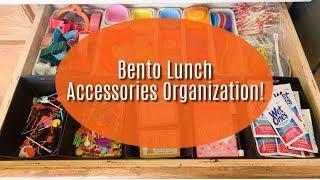 BENTO LUNCH ACCESSORIES ORGANIZATION!