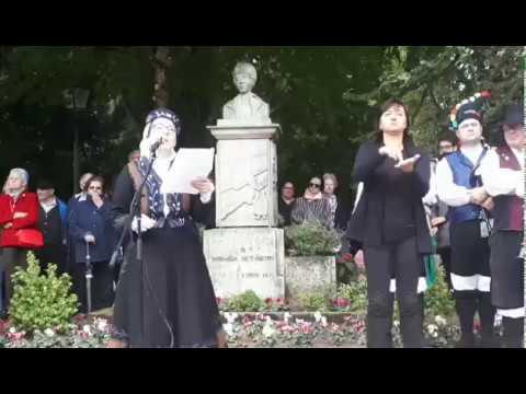 Ofrenda a Rosalía no Domingo das Mozas