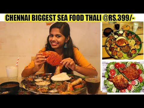Chennai Biggest Thali || Rs.399/- || Sea Foods || Coastal Aroma