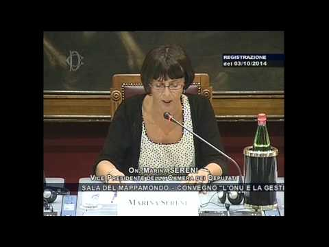 Hon. Marina Sereni, President of the Italian Chamber of Deputies