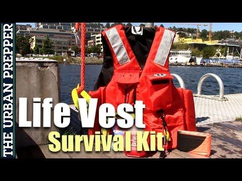 LIFE VEST SURVIVAL KIT For Floods And Tsunamis (PFD)