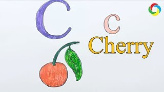 Learn alphabetically and draw the letter C | Cherry