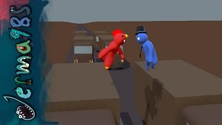 Gang Beasts - Jerma Chicken Vs. Top Hat Star